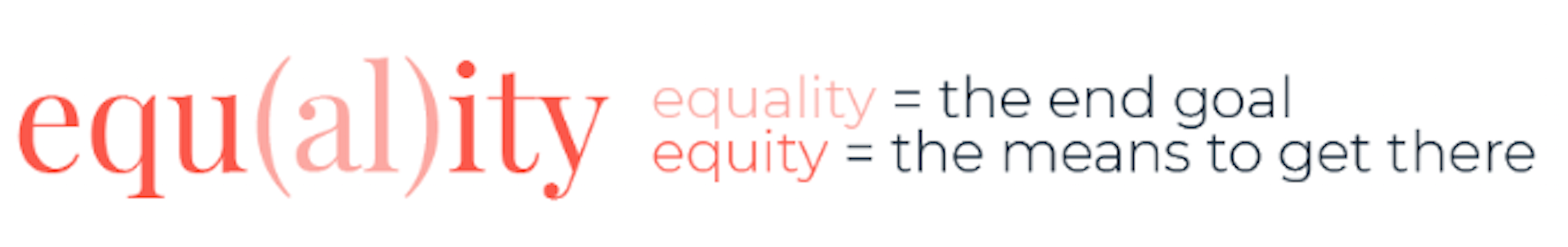 equity word graphic