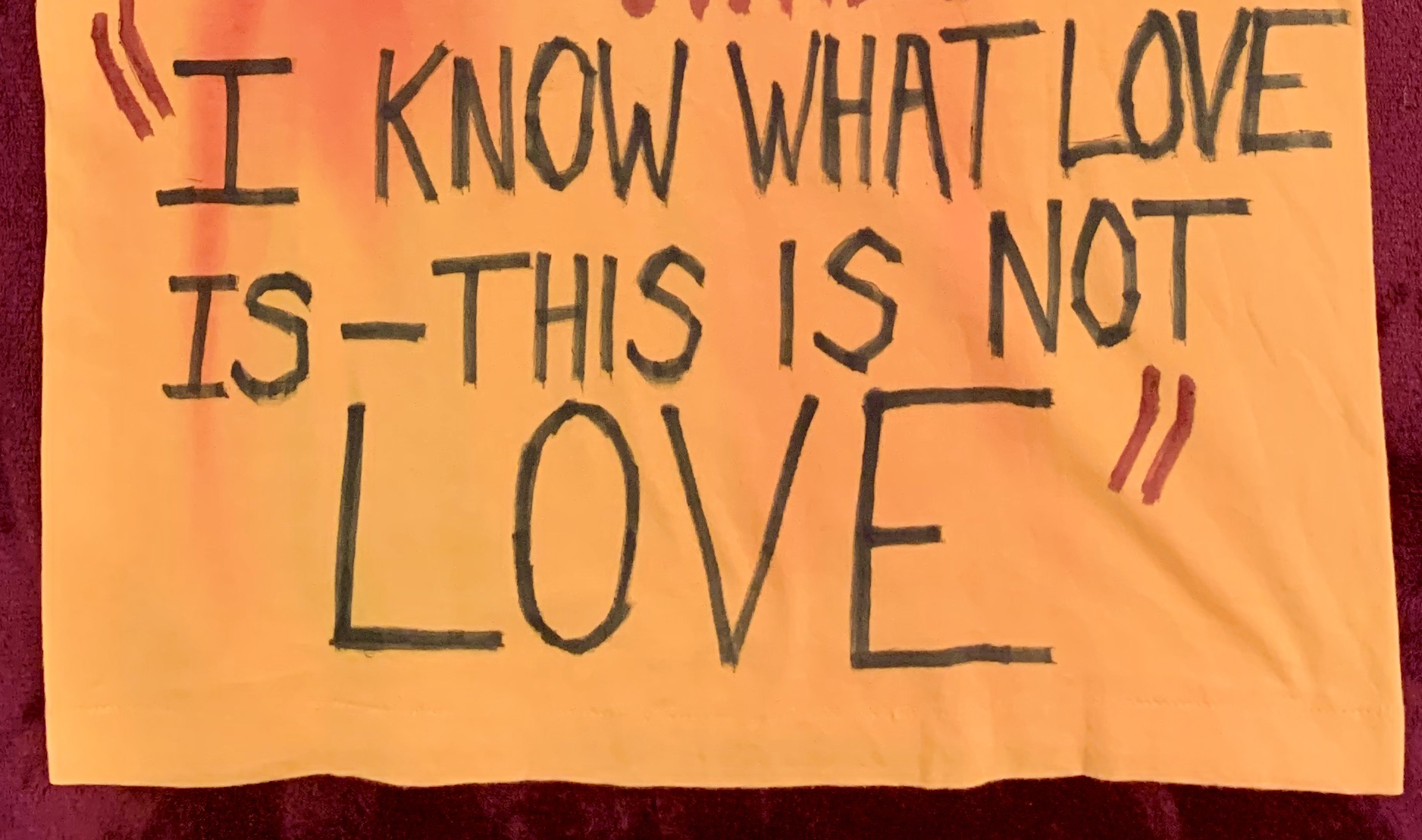 """""""This is not love"""" t-shirt"""