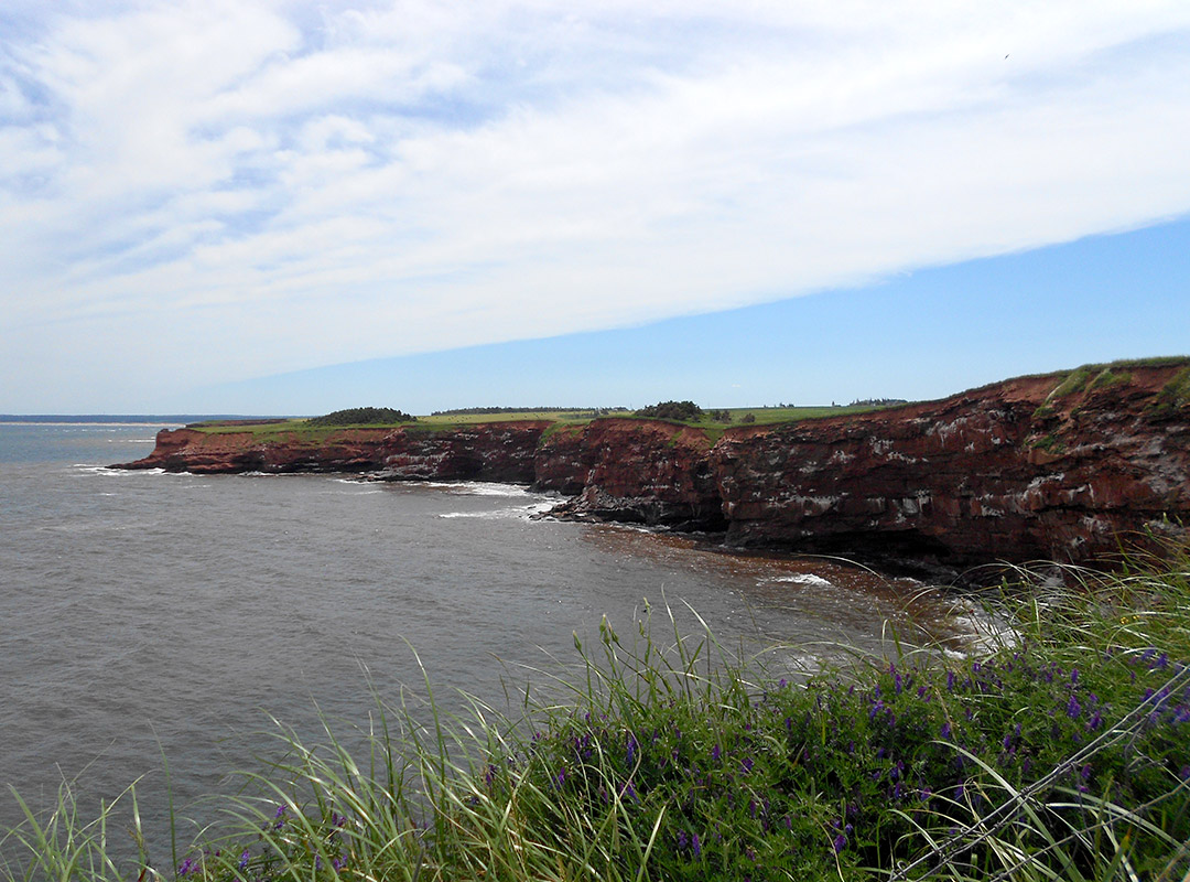 Prince Edward Island cliffs edge