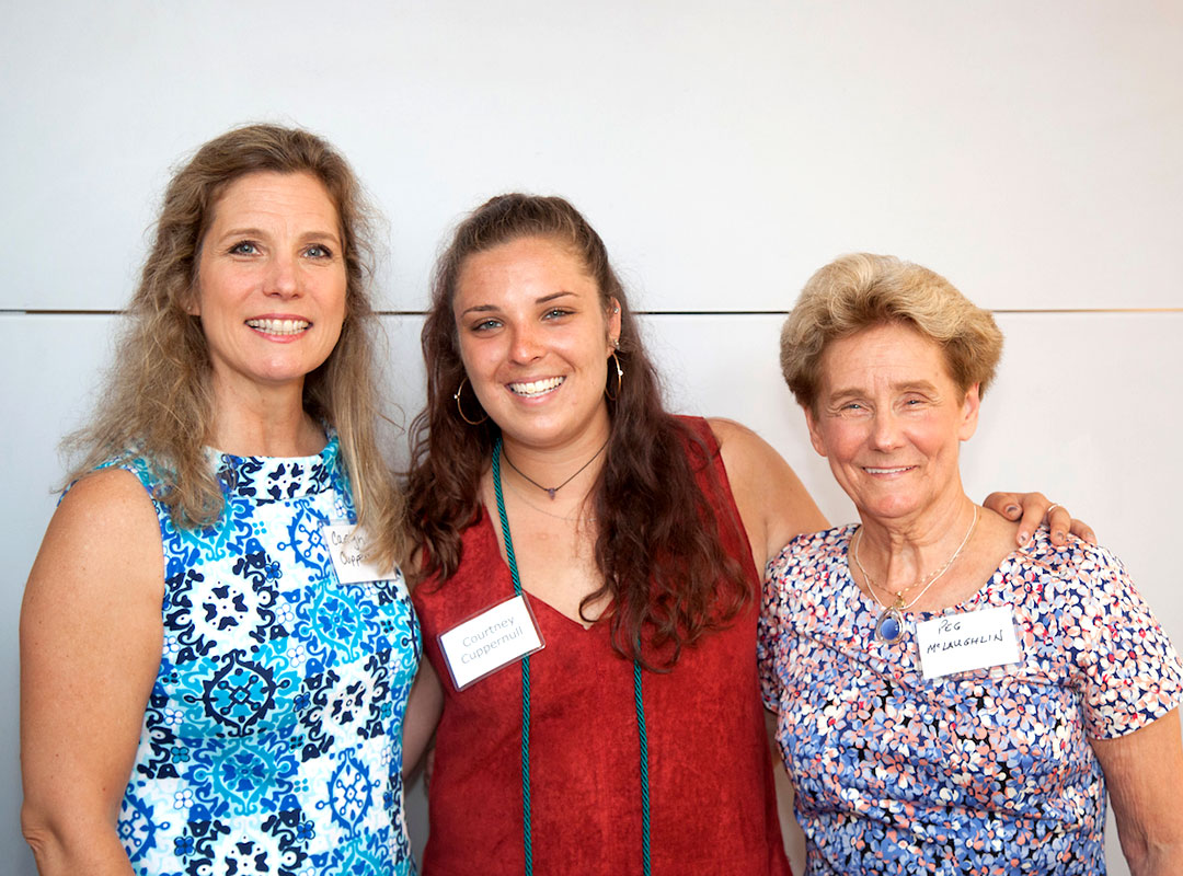 Body Positive Senior Intern Courtney Cuppernull with her Mother and Grandmother