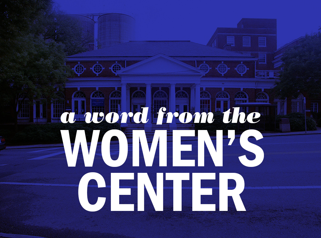 a word from the women's center