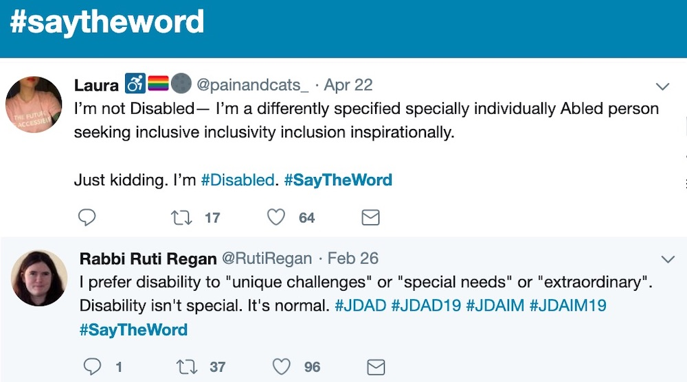 Pair of Tweets from the # Say the Word Campaign