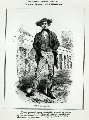 1853 illustration of The Student