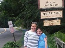 Abby Palko and her daughter visiting Louisa May Alcott's house